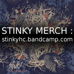 Get all the new STINKY merch on the band's Bandcamp page!