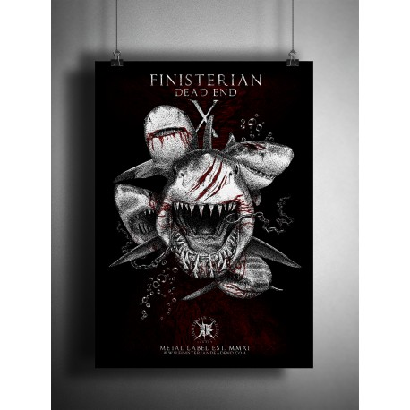"Sérigraphie Limitée, Finisterian Dead End ""Sharks 10th"" Design Above Chaos"
