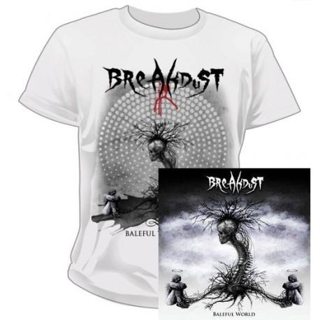 "Bundle CD et T-shirt ""Baleful World"" Breakdust"